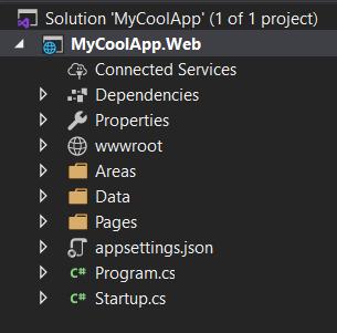 Default ASP.NET COre project structure